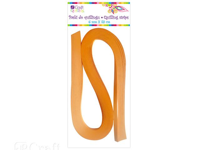 Papírové proužky na quilling 100 ks oranžové, š. 6 mm