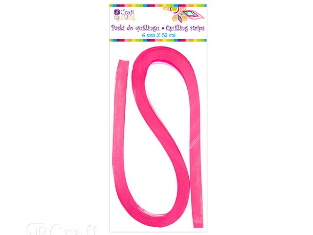Papírové proužky na quilling 100 ks růžové, š. 6 mm