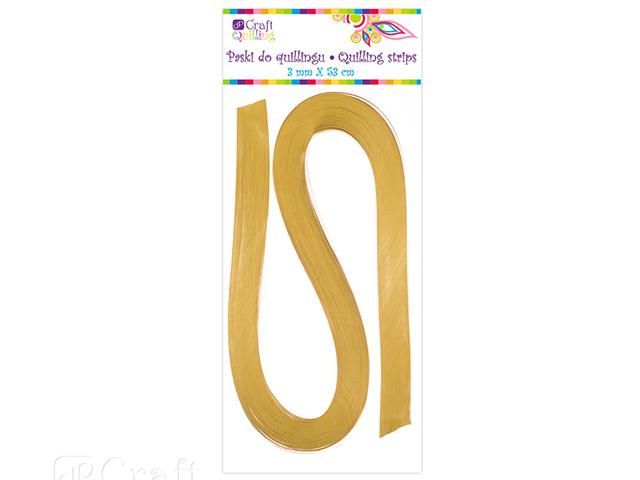 Papírové proužky na quilling 100ks zlaté š. 3 mm