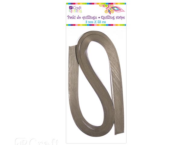 Papírové proužky na quilling 100ks stříbrné š. 3 mm