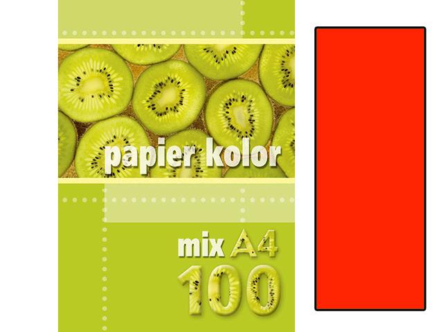 Xerox papír A4 světle červený fluo, 100 kusů