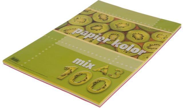 Barevný papír A3 80g - barevný mix, 100 kusů
