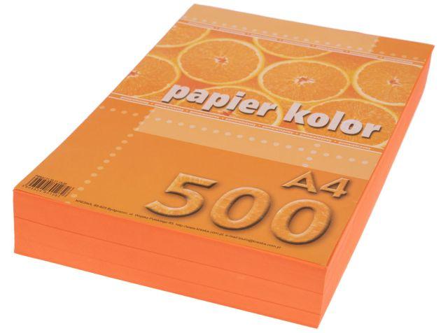 Papír A4 oranžový 80g, 500 kusů