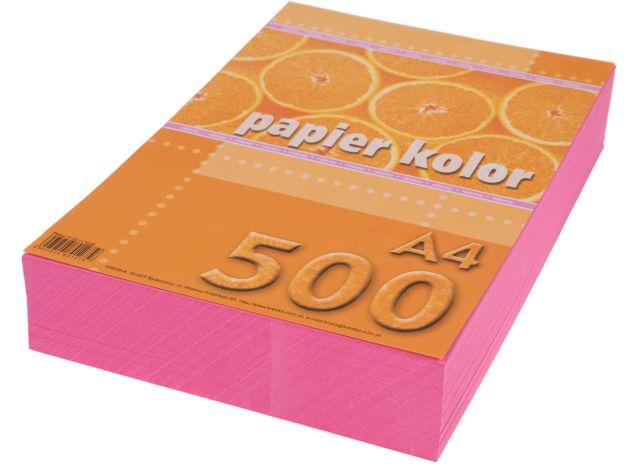 Papír A4 růžový, 80g, 500 kusů
