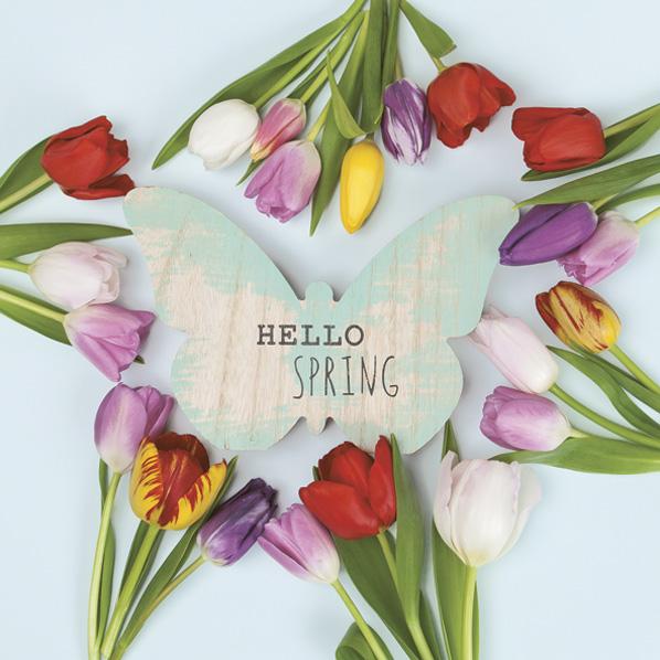 Ubrousky MAKI - růžové tulipány