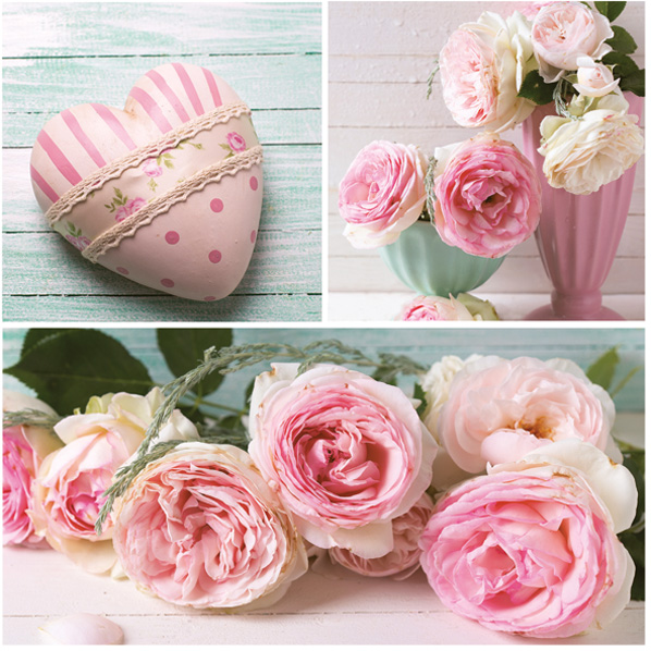 Ubrousky MAKI - růže