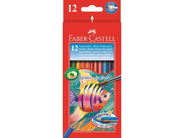 Aquarelové pastelky FABER-CASTELL - 12 kusů