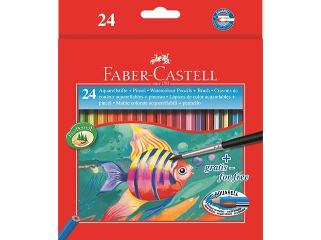 Aquarelové pastelky FABER-CASTELL + štětec