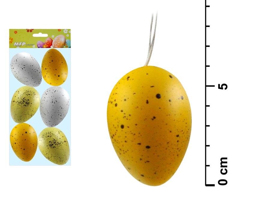 Vajíčka plastová 6 cm, 6 kusů v balení