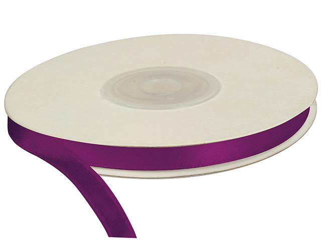 Saténová stuha 6 mm, 25 m, purpurová