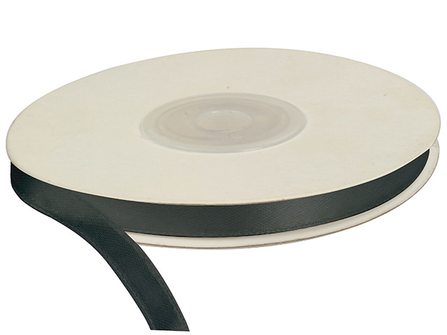 Saténová stuha 6 mm, 25 m, černá
