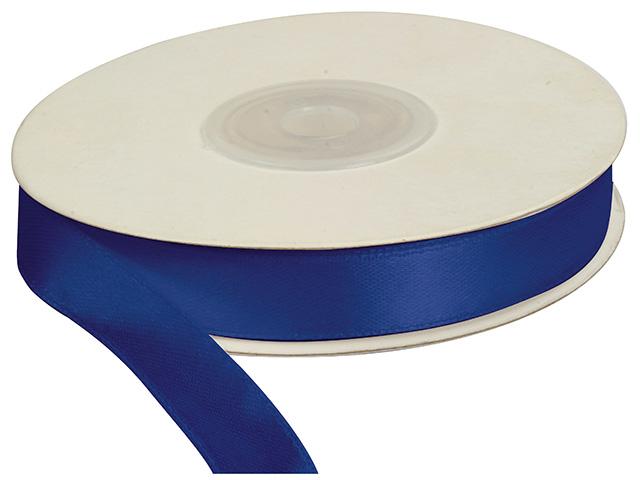 Saténová stuha 12 mm, 25 m, sytě modrá