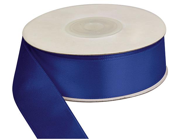 Saténová stuha 25 mm, 25 m, tmavě modrá