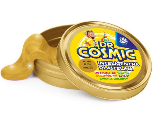 Inteligentní plastelína Dr. Cosmic - kovový vzhled, zlatá