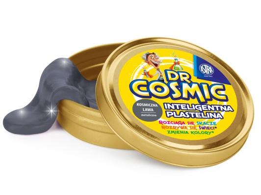Inteligentní plastelína Dr. Cosmic - kovový vzhled, modrá