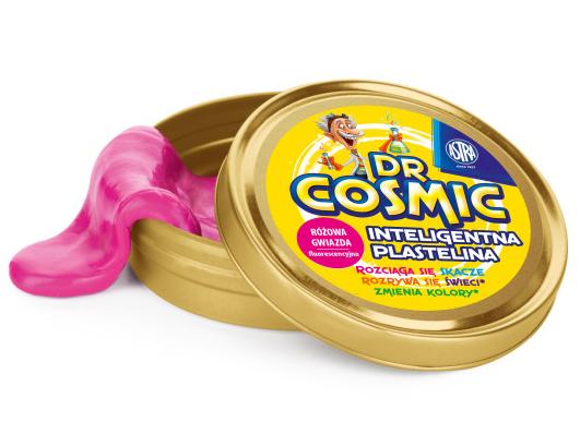 Inteligentní plastelína Dr. Cosmic - fluo růžová