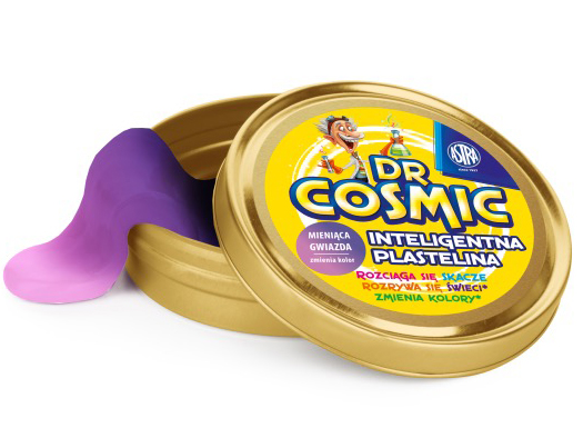 Inteligentní plastelína Dr. Cosmic - měnící se barva třpytivá