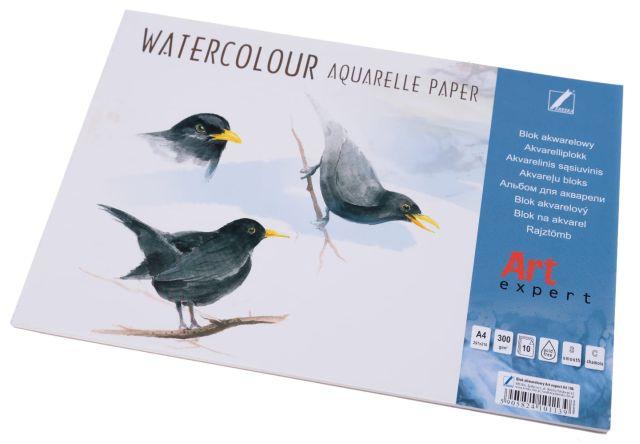 Akvarelový blok výkresů A4, 300g - 10 listů