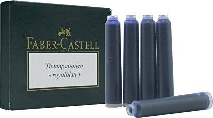 Inkoustové bombičky standart dlouhé 6 ks, modrá Faber Castell