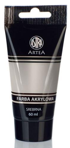 Akrylová barva Astra tuba 60 ml - stříbrná