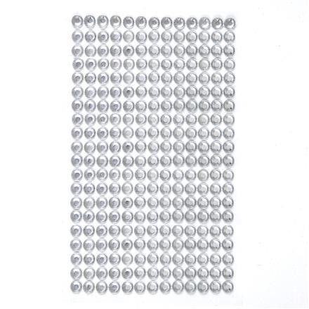Krystalky samolepicí, 6 mm, 260 kusů - průhledné