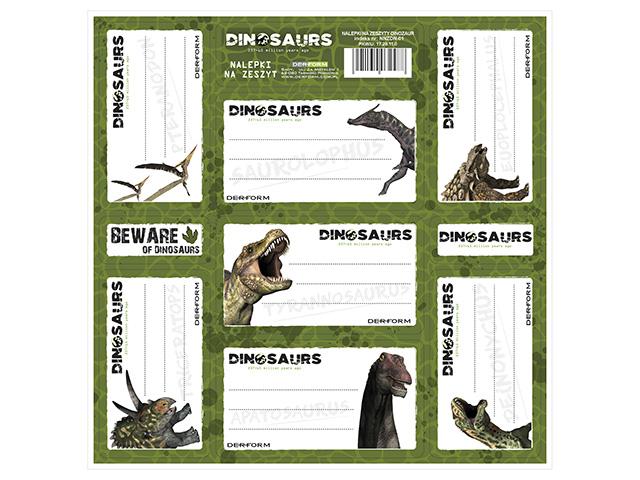 Jmenovky na sešity - Dino
