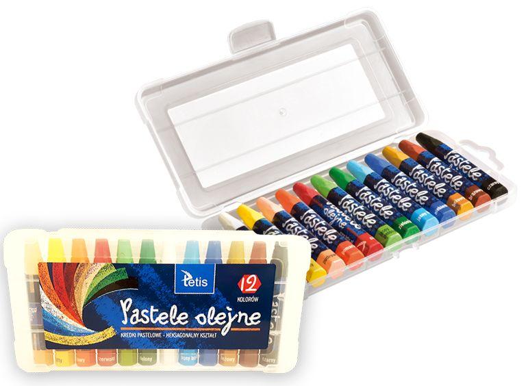 Olejové pastely TETIS - 12 barev
