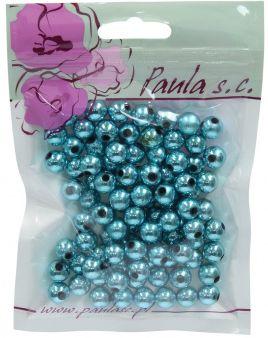 Korálky 10 mm - tmavě modré metalické