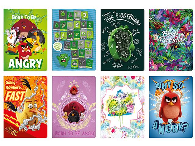 Sešit A5 čtvereček, Angry Birds, 60 listů