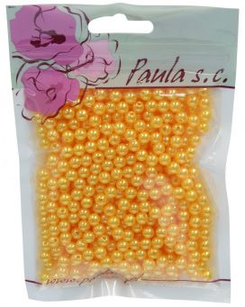 Korálky 6 mm - žluté