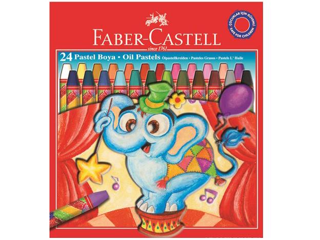 Olejové pastely 12 barev FABER-CASTELL Jumbo  - 24 barev