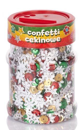 Konfety, flitry květiny ASTRA - vánoční mix 100 g