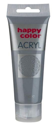 Akrylová barva Happy Color, 75 ml - tmavě šedá
