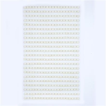 Perličky samolepicí 4 mm, 440 ks - ivory