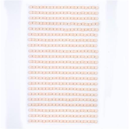 Perličky samolepicí 4 mm, 440 ks - krémové