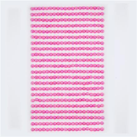 Perličky samolepicí 4 mm, 440 ks - růžové