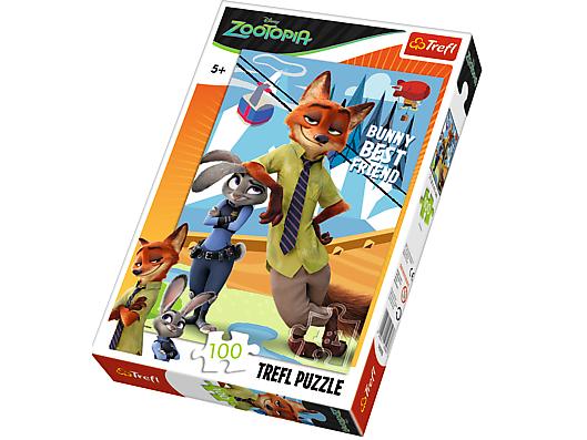 Puzzle Disney, 100 dílků, Zootopia, Judy a Nick