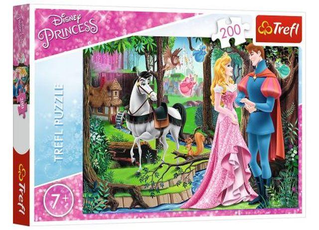 Puzzle Trefl 200 dílků Princess - Setkání v lese