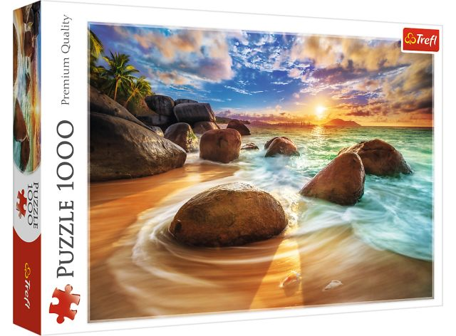 Puzzle TREFL 1000 dílků, Panorama - pláž Samudra, Indie