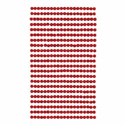 Perličky samolepicí 4 mm, 440 ks - červené
