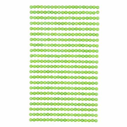 Perličky samolepicí 4 mm, 440 ks - zelené
