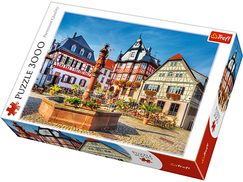 Puzzle Trefl, 3000 dílků, Trh v Heppenheimu