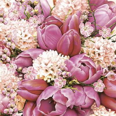 Ubrousky jaro DAISY - růžové tulipány
