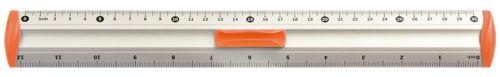 Hliníkové pravítko 20 cm - oranžové