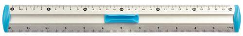 Hliníkové pravítko 20 cm - modré