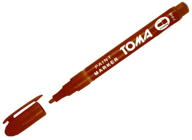 Olejový popisovač Toma - hnědý