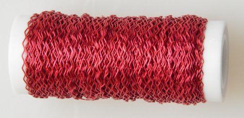 Červený vlnitý drátek 0,3 mm, 30g