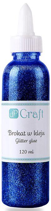 Glitrové lepidlo, 120 ml - tmavě modré