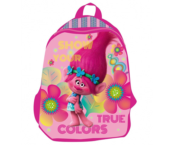 Batoh malý 30 cm Trolls, růžový