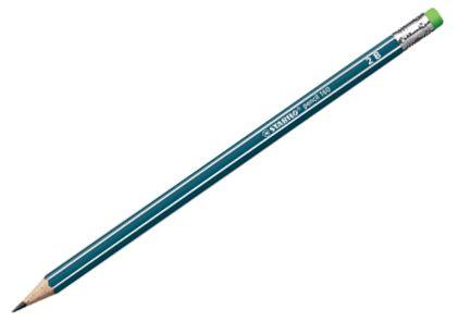 STABILO 160 tužka s 2B gumou - petrolejová